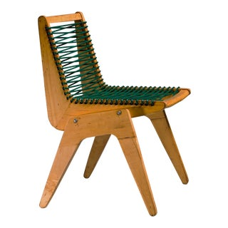 Robert Kayton and Associates Plywood with Woven Cord Chair, US, 1940s