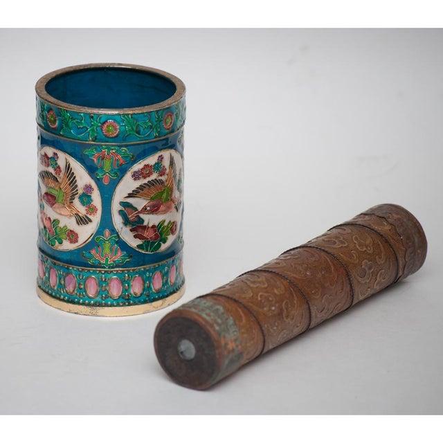 Vintage Peking Brush Pot & Kaleidoscope - Image 3 of 11
