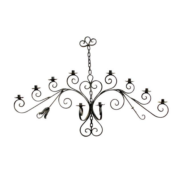 Wrought Iron Wall Candleholder - Image 1 of 5