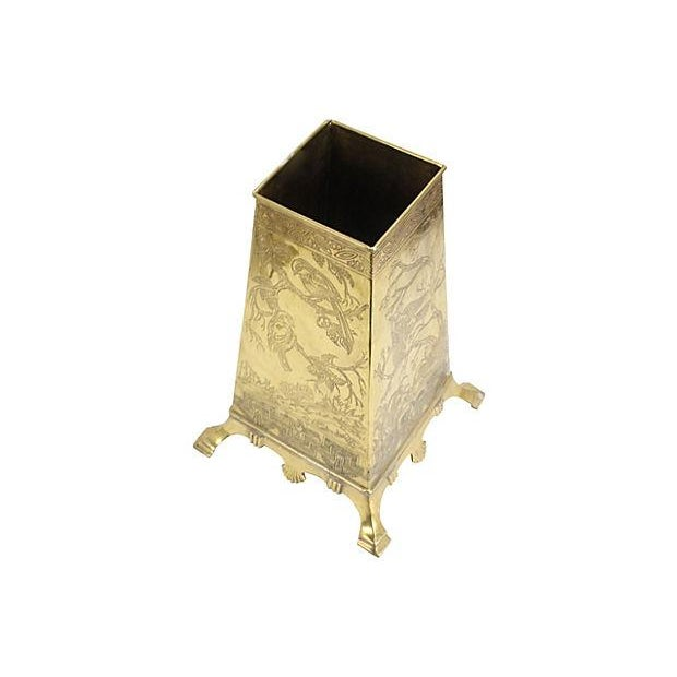 Image of Brass Chinoiserie Umbrella Stand