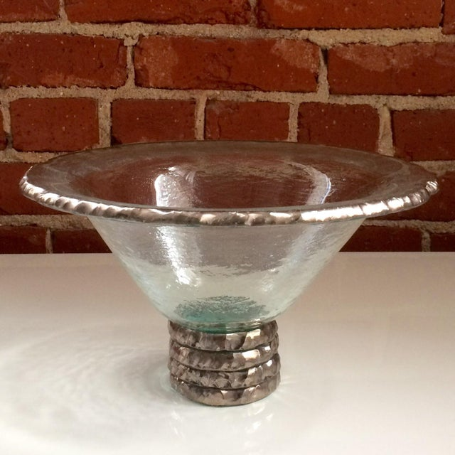 "Annieglass ""Edgey"" Glass Trophy Bowl - Image 8 of 8"