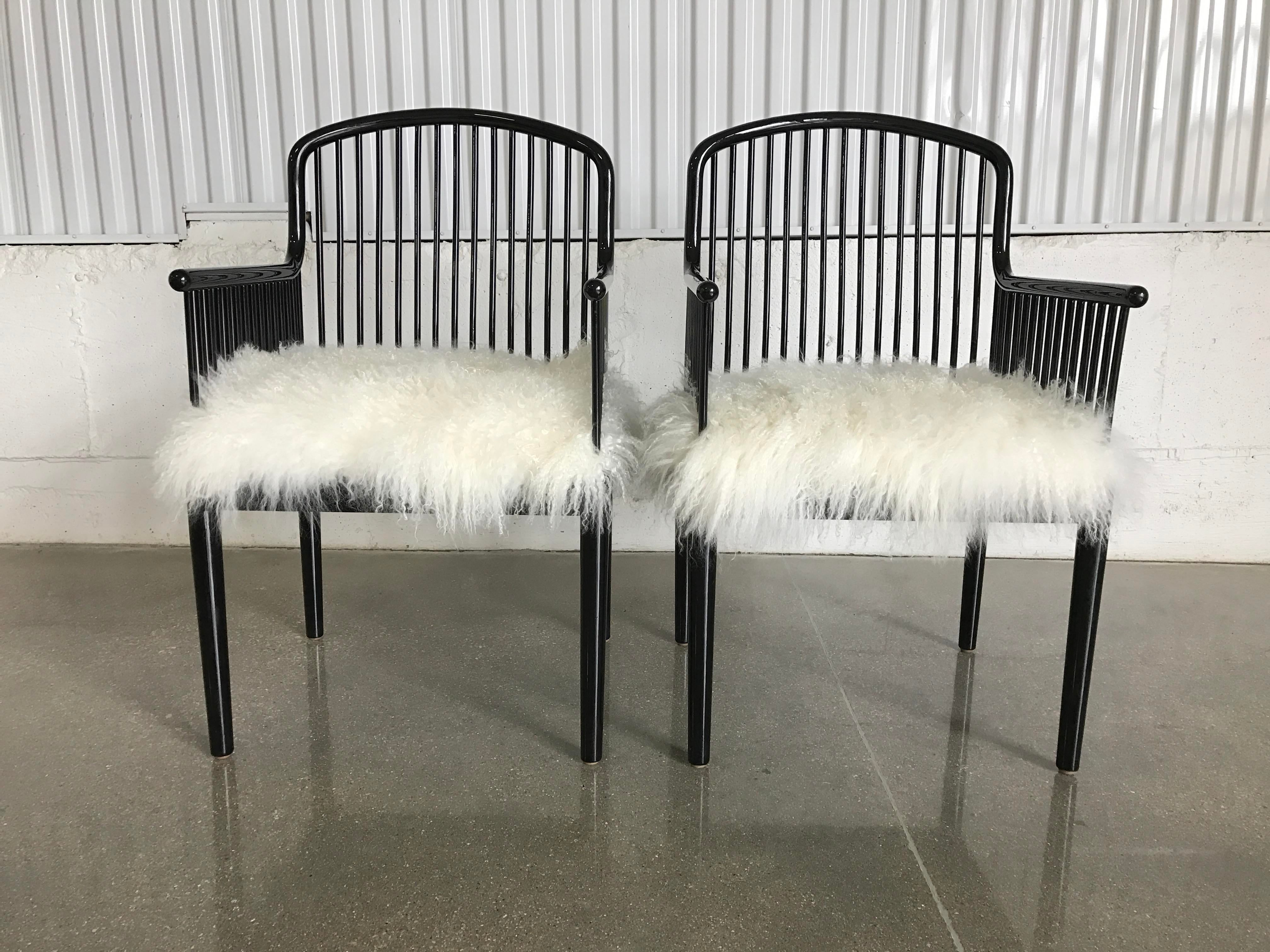 Captivating Vintage Italian Stendig Andover Chairs With Mongolian Lambswool   Image 4  Of 9