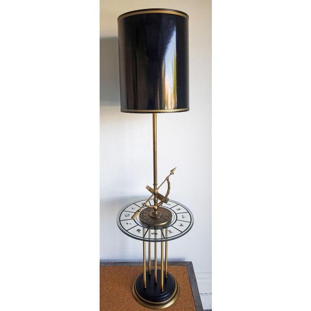 Image of 1960s Vintage Brass Armillary Astrological Floor Lamp