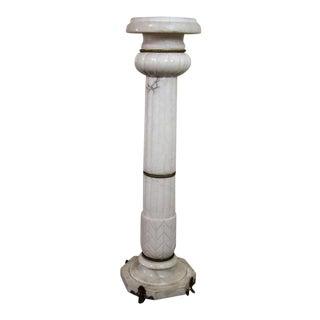 Vintage French Marble Pedestal