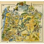 Image of Antique Oregon Pictorial Map, 1946