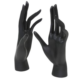 Cast Resin Mannequin Hands Sculpture - A Pair
