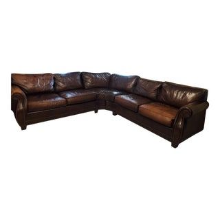 Bernhardt Grandview Sectional Leather Sofa