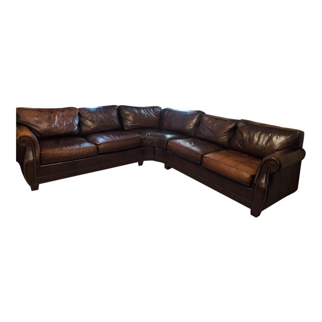 Bernhardt Grandview Sectional Leather Sofa Chairish