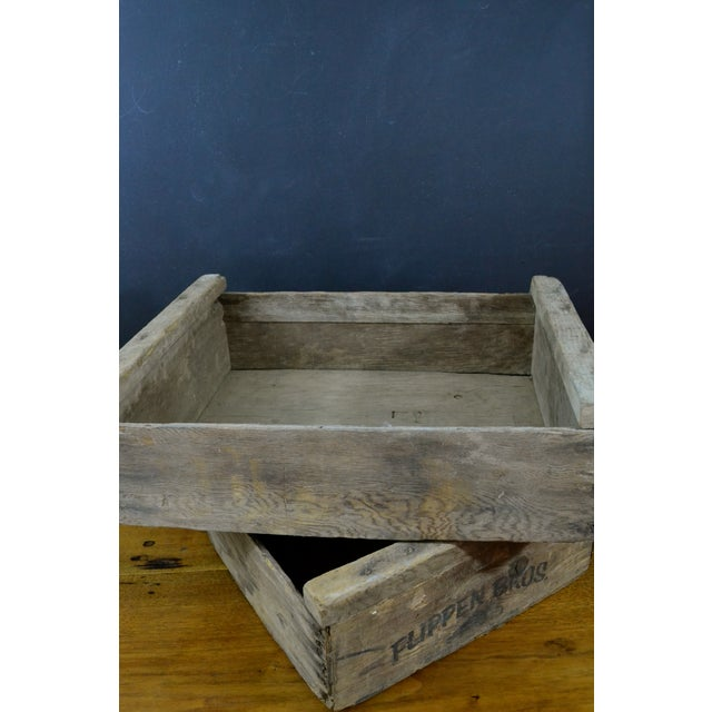 Flippen Bros. Wooden Fruit Crates - A Pair - Image 3 of 7