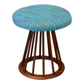 Walnut Spindle Stool by Arthur Umanoff