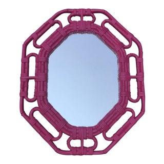 Vintage Bamboo Link Homco Pink Mirror