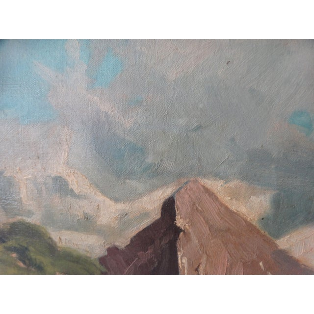 1950 Mountain Range Landscape Oil Painting - Image 7 of 10