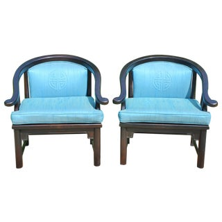 Mid-Century Ming Style Chairs - Pair