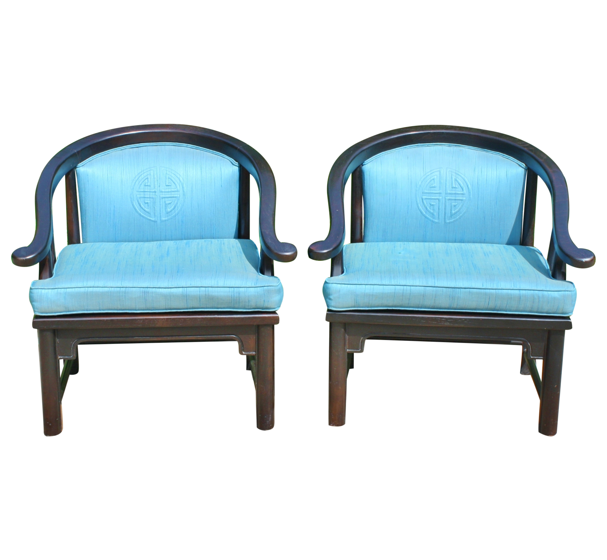 Mid Century Ming Style Chairs   Pair