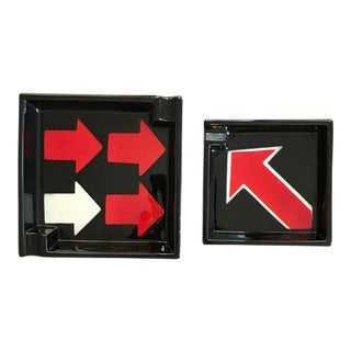 Mancioli for Raymor Pop-Art Ashtrays - A Pair