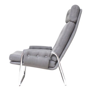 Mid-Century Chrome Lounge Chair