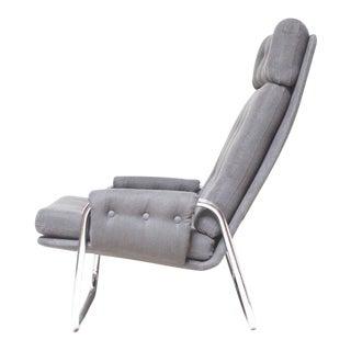 Mid-Century Chrome Lounge Chair