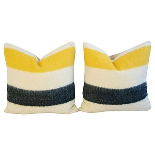 Authentic Hudson's Bay Blanket Pillows - A Pair