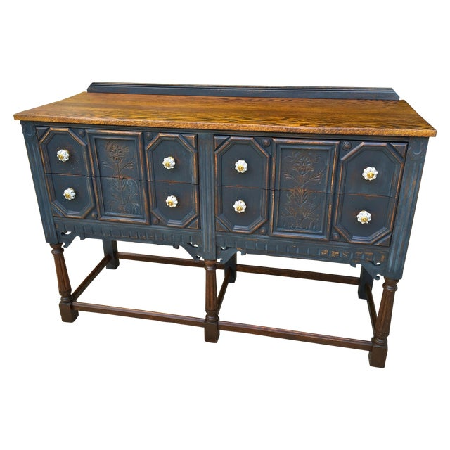 Vintage Jacobean Style Sideboard - Image 1 of 9