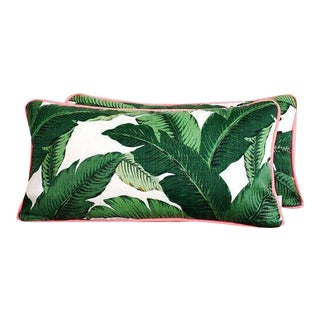 Outdoor Palm Frond Lumbar Pillows - A Pair