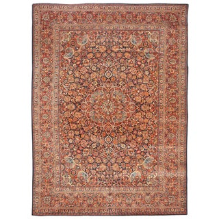 Extremely Fine Antique Kashan Carpet