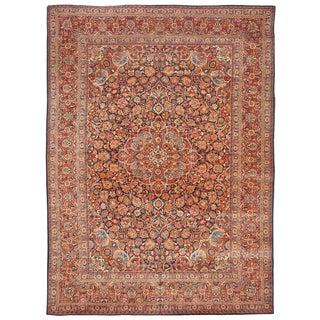 Extremely Fine Antique Kashan Carpet