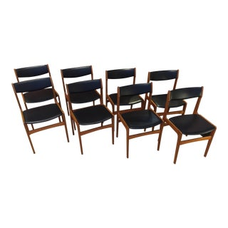 Mid-Century Modern Danish Teak Dining Chairs - Set of 8