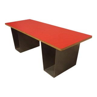Red Squat Furniture Bench Module