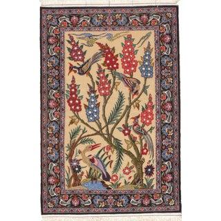 "Pasargad N Y Persian Isfahan Handmade Silk & Wool Rug - 2'3"" X 3'4"""