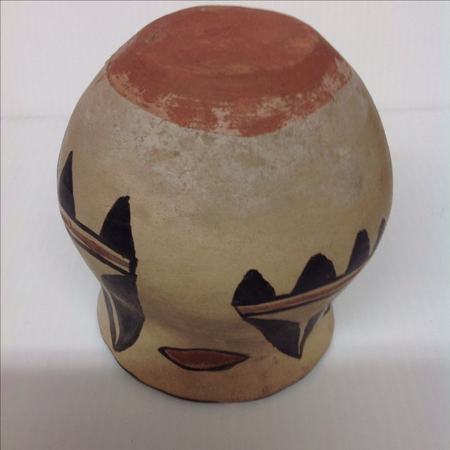 Mid-Century Indian Pottery Vase & Bowl - A Pair - Image 6 of 6