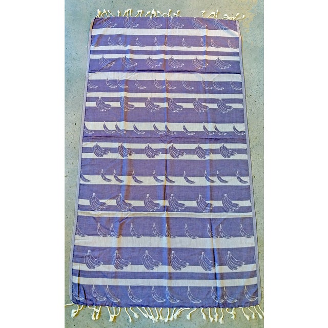 100% Cotton Lavender 'Beach Bananas' Towalla Linen - Image 2 of 6