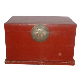 Antique Asian Red Chest