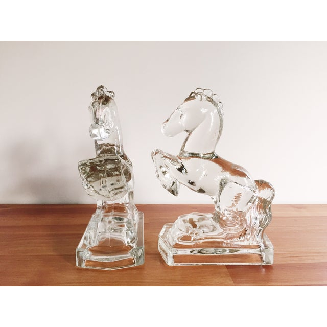 Image of Glass Horse Bookends