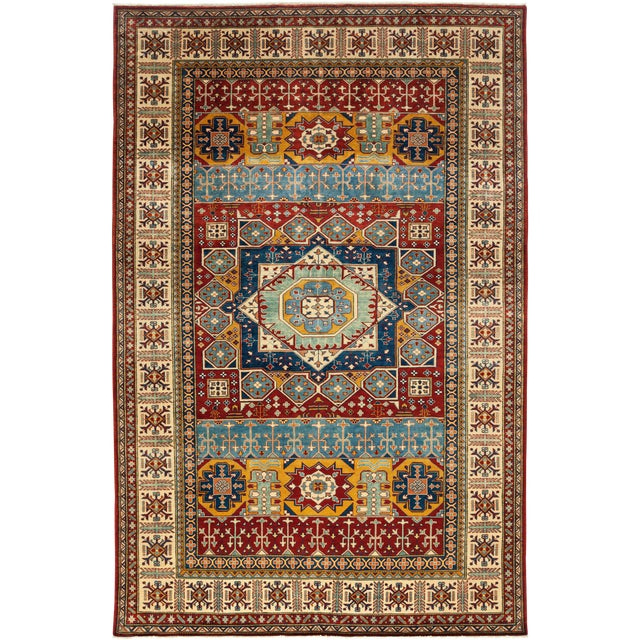 Traditional Hand Knotted Area Rug - 6′10″ × 10′8″ - Image 1 of 3