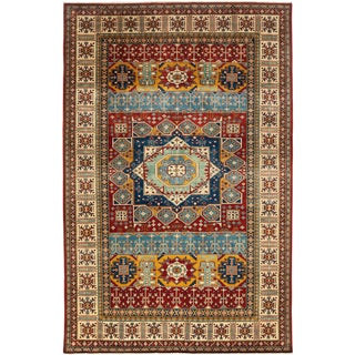Traditional Hand Knotted Area Rug - 6′10″ × 10′8″