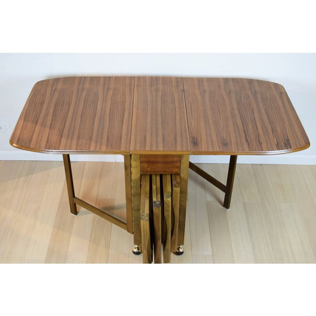 Mid-Century Danish Folding Dining Table & Chairs - Image 2 of 10