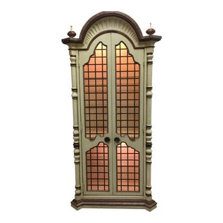 Vintage Hand Painted Illuminated Curio