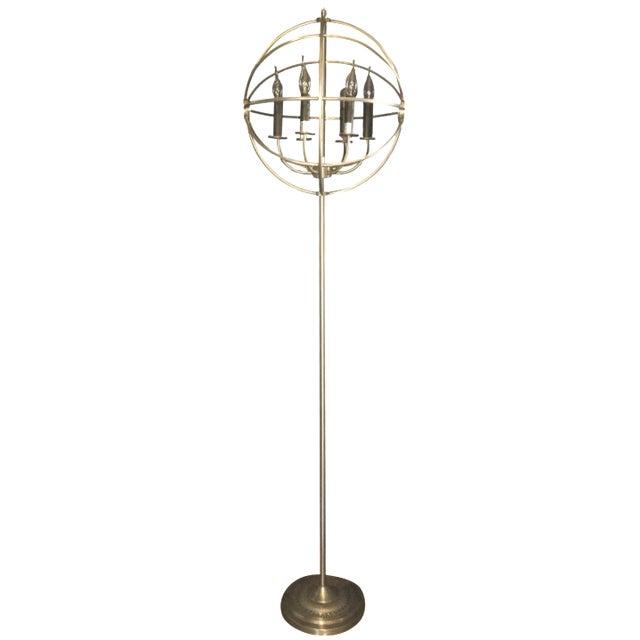 spherical restoration hardware floor lamp chairish. Black Bedroom Furniture Sets. Home Design Ideas