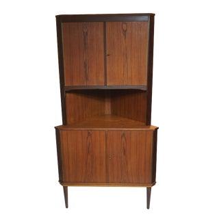 Danish Teak Storage Corner Cabinet