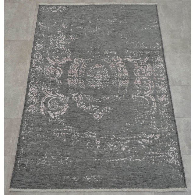 Gray Overdyed Turkish Rug - 3′11″ X 5′11″ - Image 3 of 9