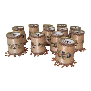 Embroidered Small Chandelier Shades - Set of 12