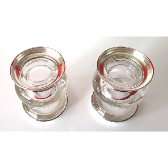 Vintage Silver & Glass Mini-Urn Vases - A Pair - Image 5 of 7