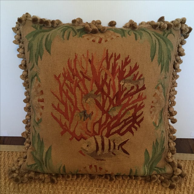 Coral & Fish Tapestry Pillow - Image 2 of 6