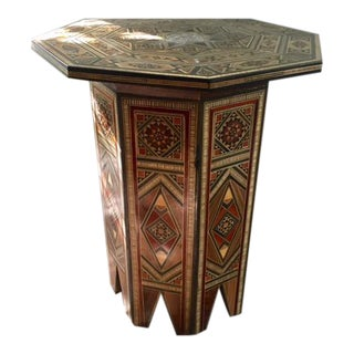 Moroccan Mother of Pearl Inlaid Side Table
