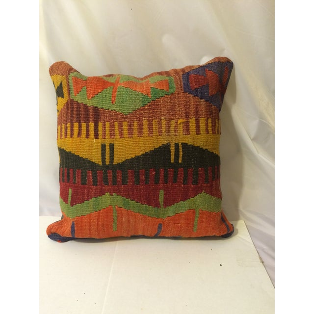 Antique Turkish Kilim Pillow Covers - Pair - Image 3 of 6