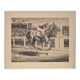 1950s Vintage Original Churchill Downs Illustration by Charles Ellis