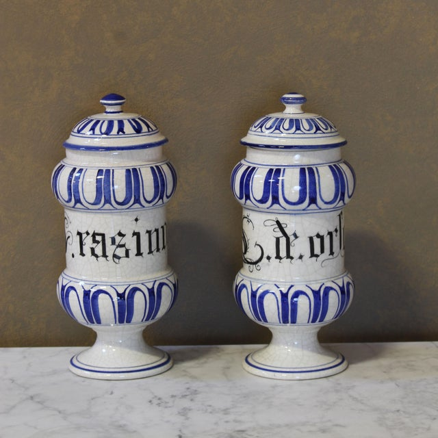 Vintage Italian Apothecary Jars - A Pair - Image 2 of 8