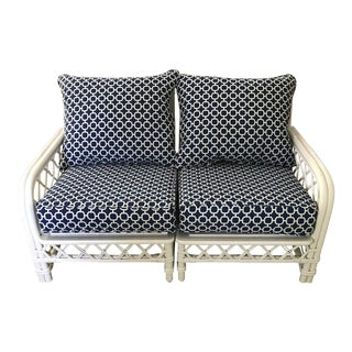 Vintage Ficks Reed 2-Piece Rattan Loveseat