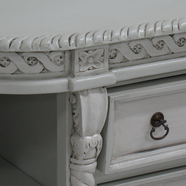 Image of Painted Buffet with Lion's Feet