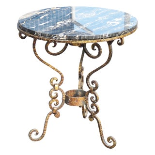 Regency Style Gilt Metal Marbletop Side Table